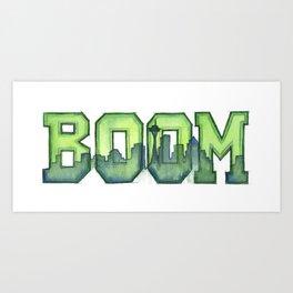 Legion of Boom Seattle 12th Man Art Art Print