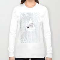 all seeing eye Long Sleeve T-shirts featuring All Seeing Eye by Rachel Hoffman