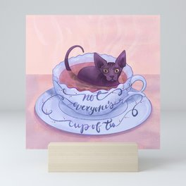 Not Everone's Cup Of Tea - Sphynx Cat - Part 2 Mini Art Print