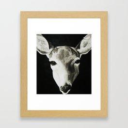 Nature Drawing: Deer Framed Art Print