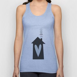 Home, Love, Illustration, Heart,  Unisex Tank Top