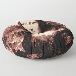 Mona Lisa Vintage Floor Pillow
