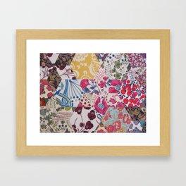 Liberty Patchwork Sewing Framed Art Print