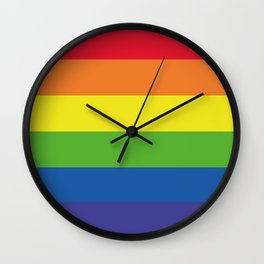 Pattern, Rainbows Colors... Wall Clock