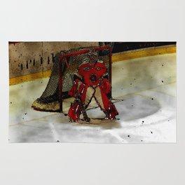 Life Goals - Ice Hockey Goalie Motivational Art Rug