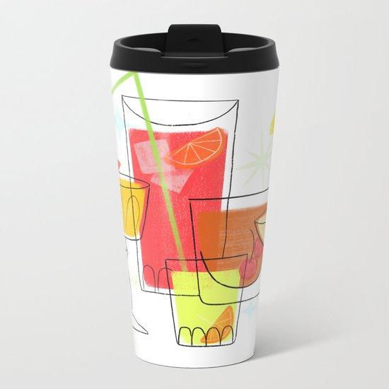 Swanky Summer Coolers Metal Travel Mug