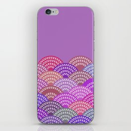seigaiha wave lilac purple pink colors abstract scales iPhone Skin