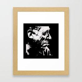 Charles BUKOWSKI - poetry PORTRAIT Framed Art Print