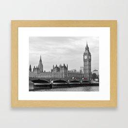 Buses on Westminster Bridge Framed Art Print