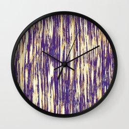 Ikat Streaks in Royal Gold Wall Clock