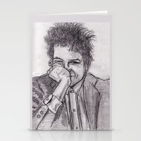 bob dylan Stationery Cards featuring Bob Dylan by jamestomgray