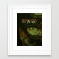 baroque Framed Art Prints featuring Baroque by OhBretterson