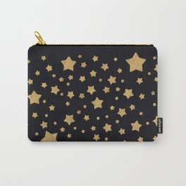 Gold Stars on BLack Carry-All Pouch
