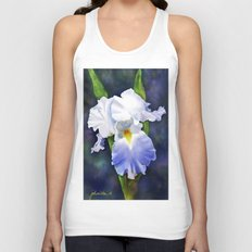 Susan's Blue Iris Unisex Tank Top