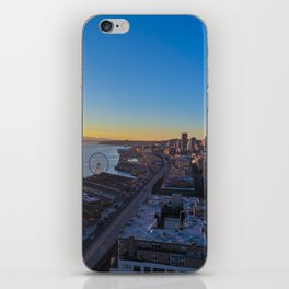 Downtown Seattle Skyline at Sunset 1 iPhone Skin