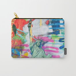 Statue of liberty graffiti pop art Carry-All Pouch