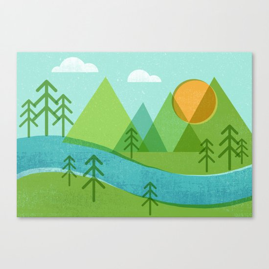 Roll On Columbia Canvas Print