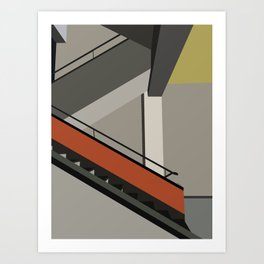 Stairway in bauhaus Dessau Art Print