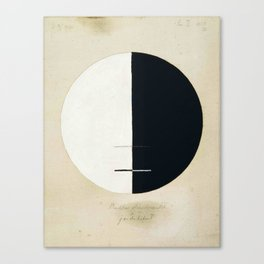 Hilma Af Klint Buddha's Standpoint In The Earthly Life Canvas Print