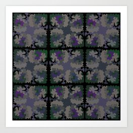 Quilted Camouflage Art Print