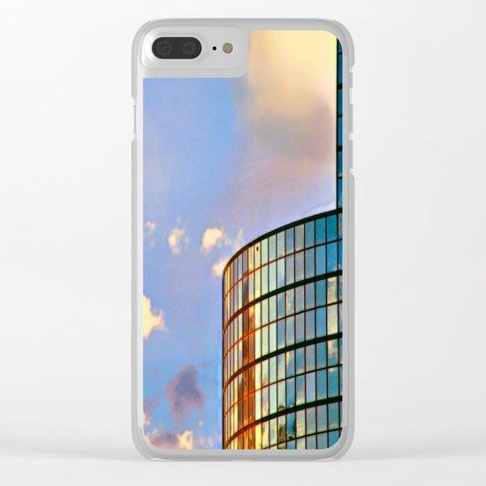 Minimalist Skyline Clear iPhone Case
