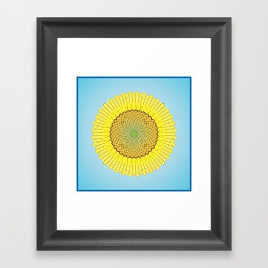 Spring Yellow Framed Art Print