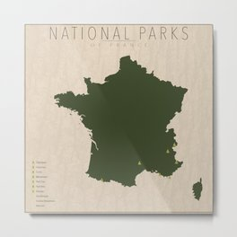 National Parks of France Metal Print
