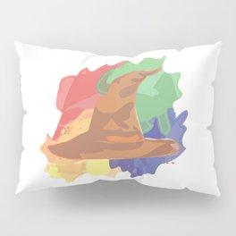 Magical Hat Watercolor Pillow Sham