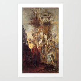 Gustave Moreau - The Muses Leaving Their Father Apollo to Go and Light the World Art Print