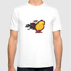 Firechicken White MEDIUM Mens Fitted Tee