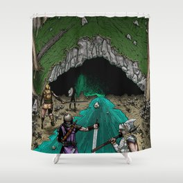 Party Approaching Cave Shower Curtain