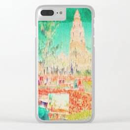 glitchy gardens Clear iPhone Case