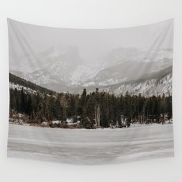Over the Frozen Lake // Mountains of Colorado Wall Tapestry
