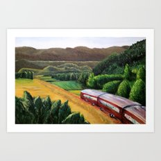 Getaway Train Art Print