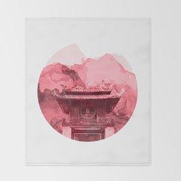 Vietnam Quoc Tu Giam Temple Hanoi capital Throw Blanket