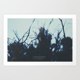The clearest way. Art Print