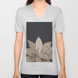 Sepia Agave #1 #tropical #decor #art #society6 Unisex V-Neck