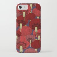 chinese iPhone & iPod Cases featuring Chinese Lanterns by Deborah Panesar Illustration