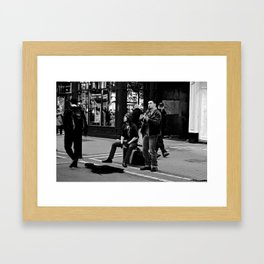 Busking on Grafton Framed Art Print