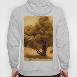 Sepia Juniper Tree by CheyAnne Sexton Hoody
