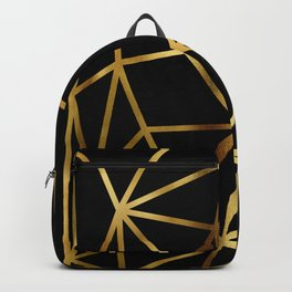 In Gold Triangles. Art Deco. Backpack