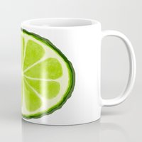 lime Mugs featuring Lime by Linde Townsend