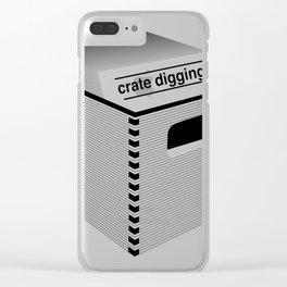 Crate digging (dark p Clear iPhone Case