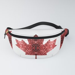 Canada flag red sparkles Fanny Pack