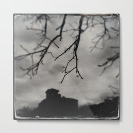 Water Tower and Branches Metal Print