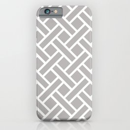 Geometric Trellis Weave Pattern 124 Gray iPhone Case