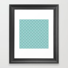 Tiffany scallops Framed Art Print