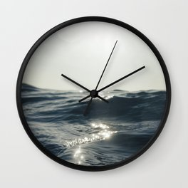 Sea surface movement at Fistral Beach, Newquay Wall Clock