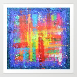 I have found my joy - prophetic art abstract expressionism rainbow colourful braille contemporary Art Print