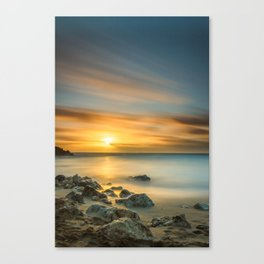 A Calm sunset in winter Canvas Print
